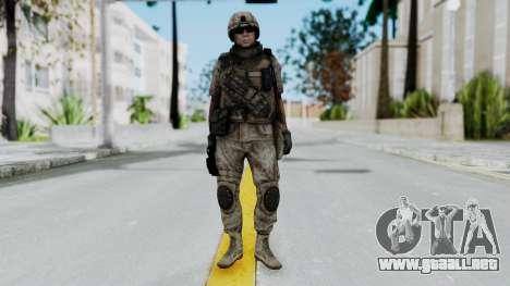 Crysis 2 US Soldier 1 Bodygroup B para GTA San Andreas segunda pantalla