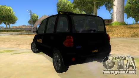 Fiat Multipla FAKETAXI para GTA San Andreas vista posterior izquierda