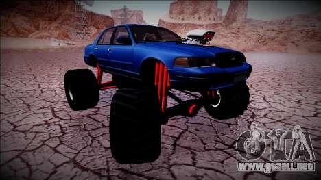 2003 Ford Crown Victoria Monster Truck para el motor de GTA San Andreas