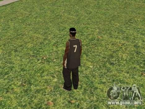 Black fam3 para GTA San Andreas segunda pantalla