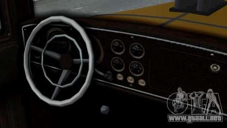 GTA 5 Albany Roosevelt Valor IVF para GTA San Andreas vista posterior izquierda