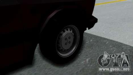 Yugo Koral 55 para GTA San Andreas vista posterior izquierda