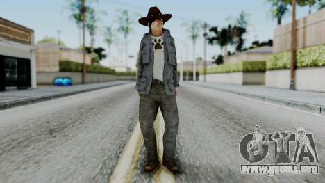 Carl Grimes from The Walking Dead para GTA San Andreas segunda pantalla