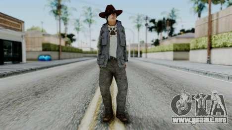Carl Grimes from The Walking Dead para GTA San Andreas segunda pantalla