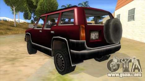 GTA III Landstalker para GTA San Andreas vista posterior izquierda