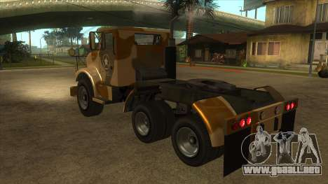 GTA V HVY Barracks Semi para GTA San Andreas vista posterior izquierda