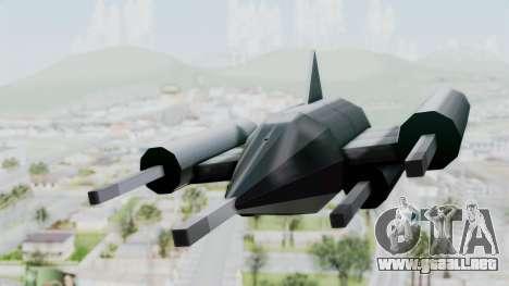 TCFU Spaceship para GTA San Andreas vista posterior izquierda
