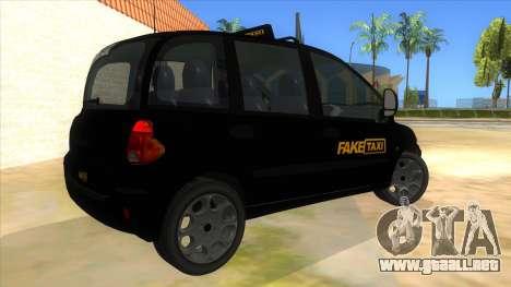 Fiat Multipla FAKETAXI para la visión correcta GTA San Andreas