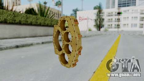 The Ballas Knuckle Dusters from Ill GG Part 2 para GTA San Andreas