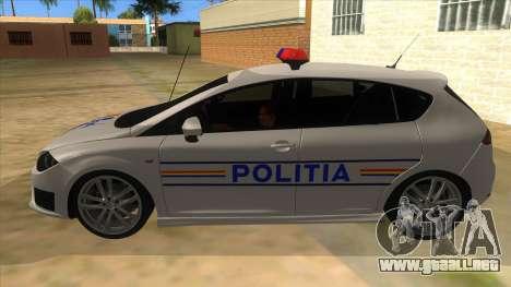 Seat Leon Cupra Romania Police para GTA San Andreas left