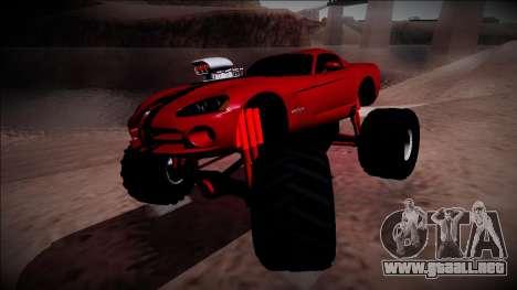 Dodge Viper SRT10 Monster Truck para la visión correcta GTA San Andreas