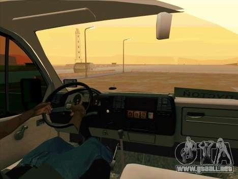 GAZ 33023 NORD para GTA San Andreas vista posterior izquierda