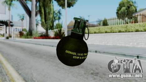 No More Room in Hell - Grenade para GTA San Andreas segunda pantalla