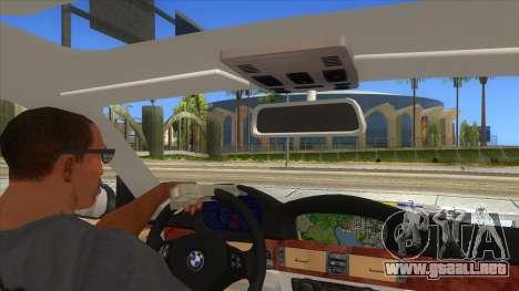 BMW 330XD Romania Police para visión interna GTA San Andreas