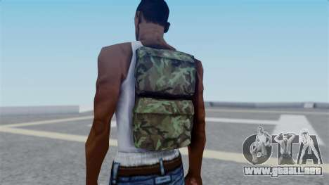 Arma 2 New Backpack para GTA San Andreas tercera pantalla