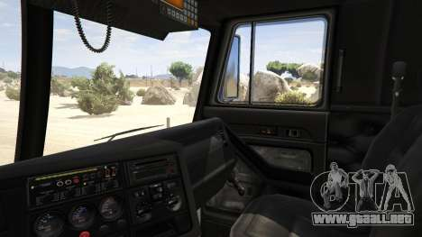 GTA 5 Los Angeles Fire Truck vista lateral trasera derecha