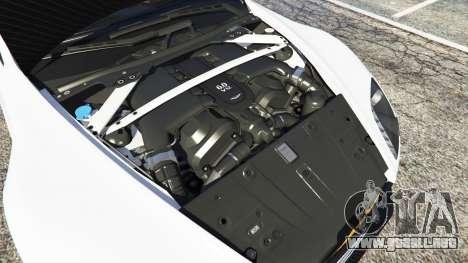 GTA 5 Aston Martin Vantage GT12 2015 vista lateral trasera derecha