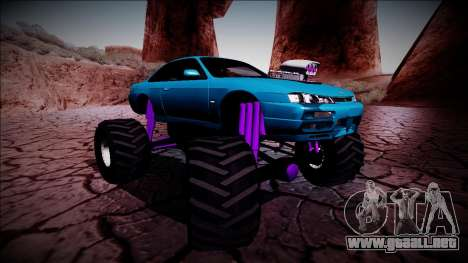 Nissan Silvia S14 Monster Truck para GTA San Andreas interior
