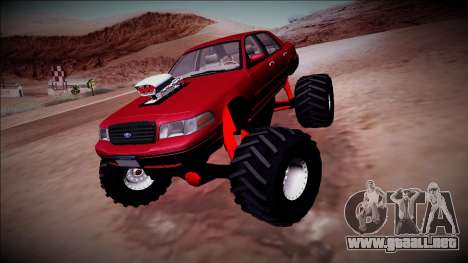 2003 Ford Crown Victoria Monster Truck para la visión correcta GTA San Andreas