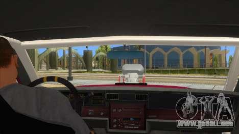 1984 Chevrolet Impala Drag para visión interna GTA San Andreas