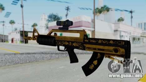 GTA 5 Online Lowriders DLC Bullpup Rifle para GTA San Andreas segunda pantalla