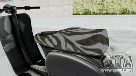 GTA 5 Principe Faggio para GTA San Andreas vista posterior izquierda