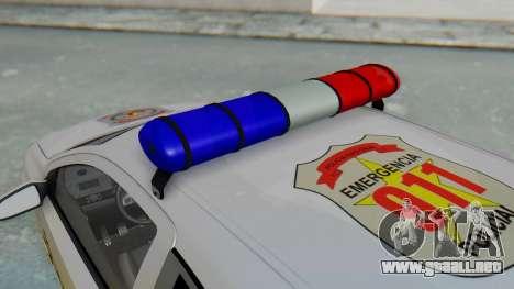 Opel-Vauxhall Astra Policia para GTA San Andreas vista hacia atrás
