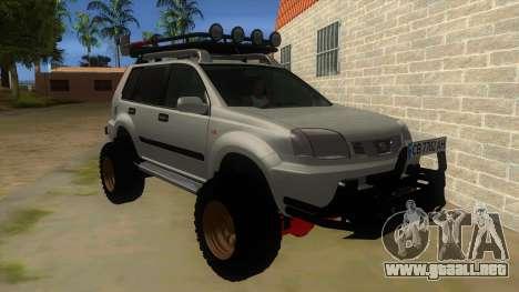 Nissan X-Trail 4x4 Dirty by Greedy para GTA San Andreas vista hacia atrás