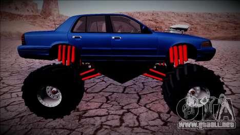 2003 Ford Crown Victoria Monster Truck para las ruedas de GTA San Andreas