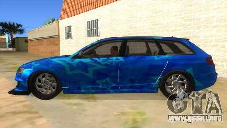 Audi RS6 Blue Star Badgged para GTA San Andreas left
