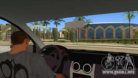 Dacia Logan Romania Police para visión interna GTA San Andreas