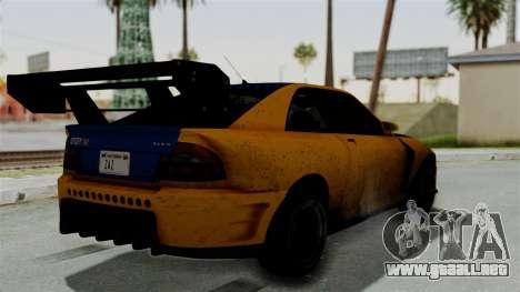 GTA 5 Karin Sultan RS Drift Big Spoiler para GTA San Andreas left