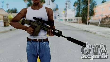 SCAR-20 v1 Supressor para GTA San Andreas tercera pantalla