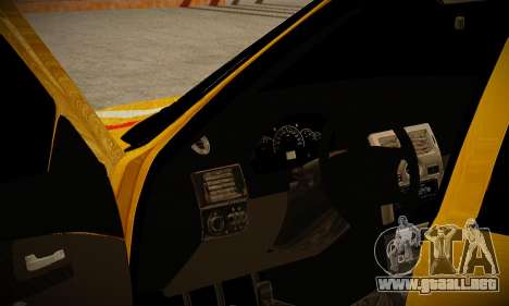 Lada 2170 Priora Gold para GTA San Andreas vista posterior izquierda