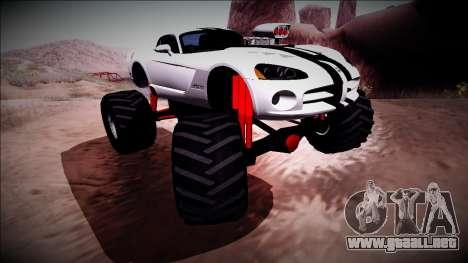 Dodge Viper SRT10 Monster Truck para visión interna GTA San Andreas