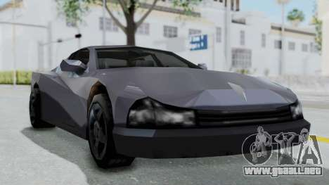 GTA LCS Cheetah para GTA San Andreas vista posterior izquierda