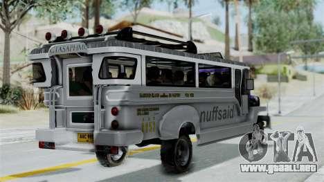 Jeepney Philippines para GTA San Andreas left