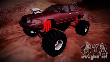 2003 Ford Crown Victoria Monster Truck para la vista superior GTA San Andreas