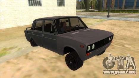 VAZ 2106 Drift Edition para GTA San Andreas vista hacia atrás