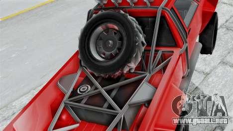 GTA 5 Karin Rebel 4x4 para GTA San Andreas vista hacia atrás