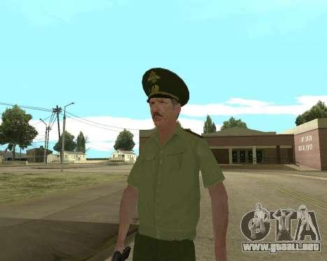 Suboficial mayor danyluk para GTA San Andreas quinta pantalla
