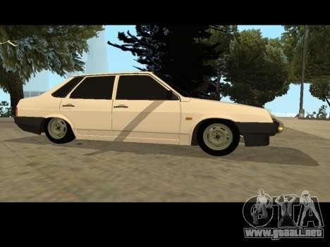 VAZ 21099 Coche Sin Red de Aterrizaje para GTA San Andreas left