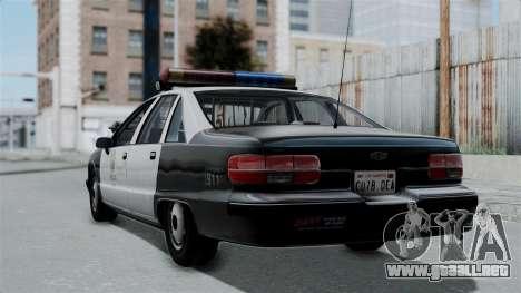 Chevrolet Caprice 1991 CRASH Division para GTA San Andreas left