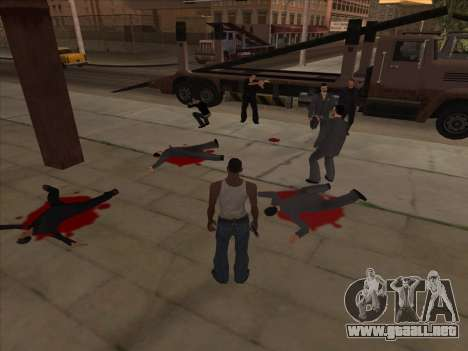 Los rusos en el distrito de Compras de la v2 para GTA San Andreas segunda pantalla