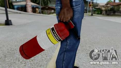 No More Room in Hell - Fire Extingusher para GTA San Andreas tercera pantalla