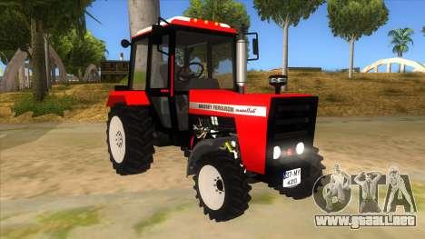 Massley Ferguson Tractor para GTA San Andreas vista hacia atrás