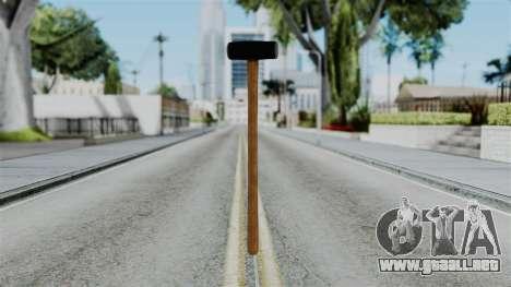 No More Room in Hell - Sledgehammer para GTA San Andreas segunda pantalla
