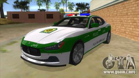 Maserati Iranian Police para GTA San Andreas