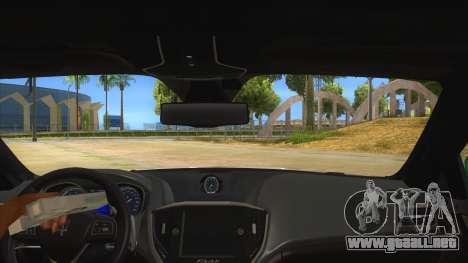 Maserati Iranian Police para visión interna GTA San Andreas
