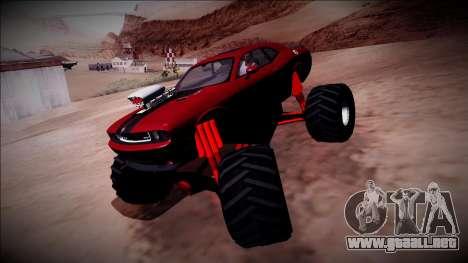 2009 Dodge Challenger SRT8 Monster Truck para vista lateral GTA San Andreas